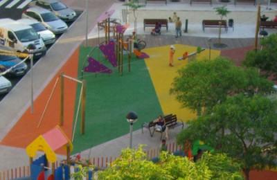 imagen de suelo de parques infantiles