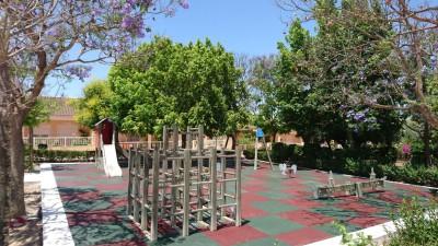 Suelo de caucho en placas en La Pinilla
