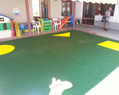 Suelo de Caucho Centro Educativo en Rotglà i Corbera