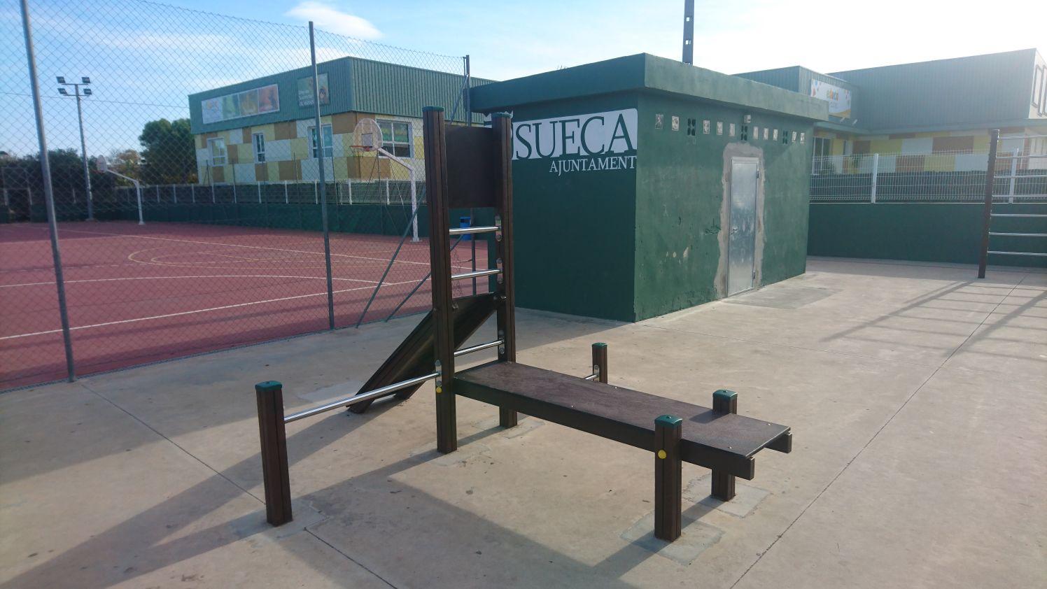 Circuito deportivo de madera en Sueca