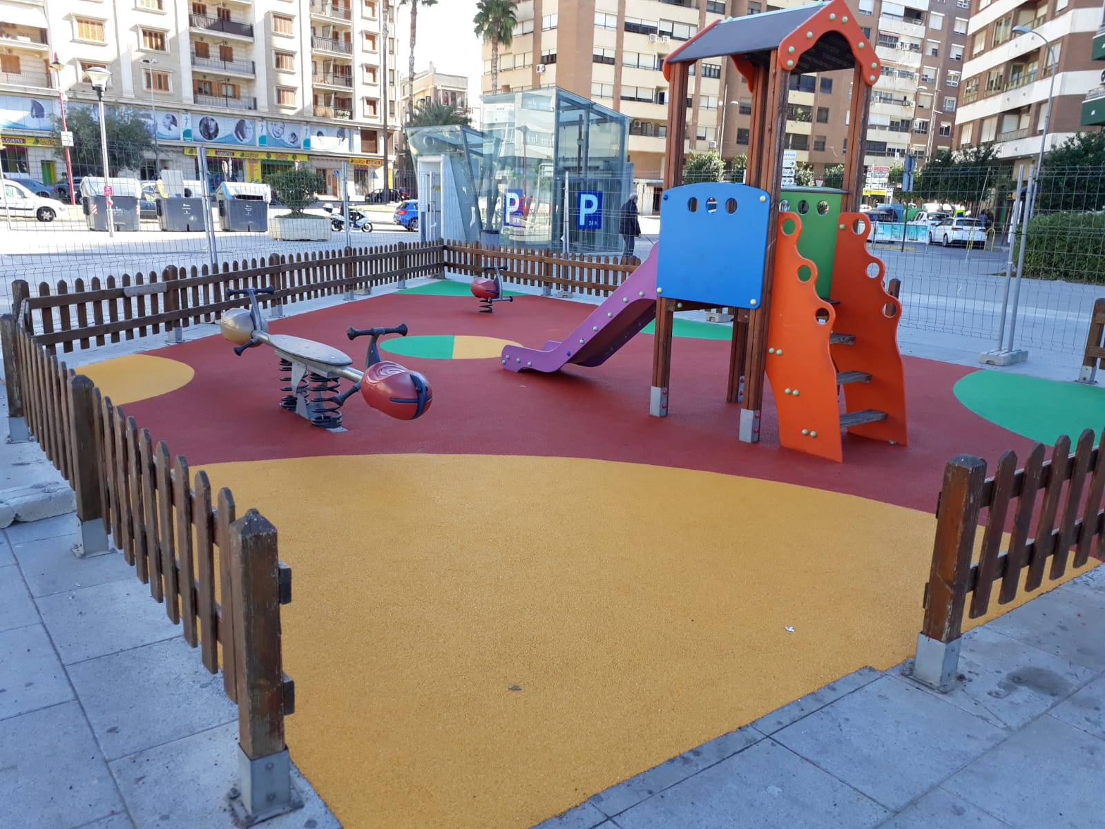 Suelo de caucho en Alzira