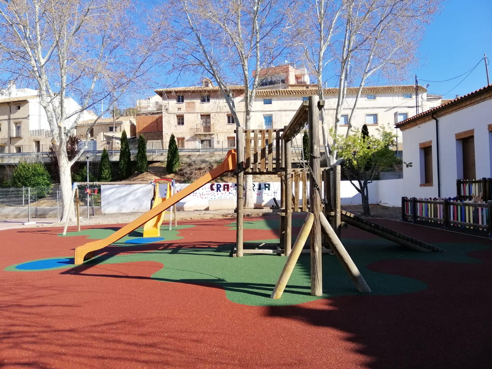 Suelo de caucho continuo en Teruel