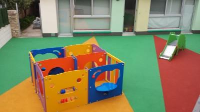 Juegos Infantiles y Suelo de Caucho en Escoleta en Silla