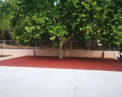 Suelo de Caucho en colegio de Pedralba