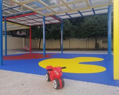 Suelo de Caucho en escuela infantil en Valencia