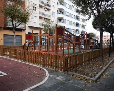 Valla de Madera para Parque Infantil en Gandía