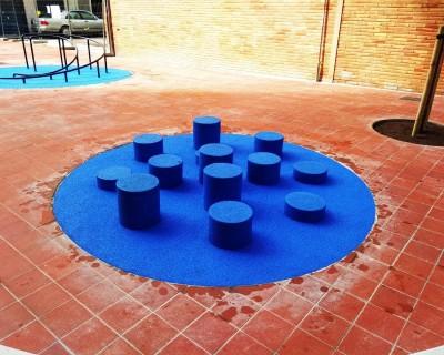 Suelo de Caucho con cilindros en Xàtiva